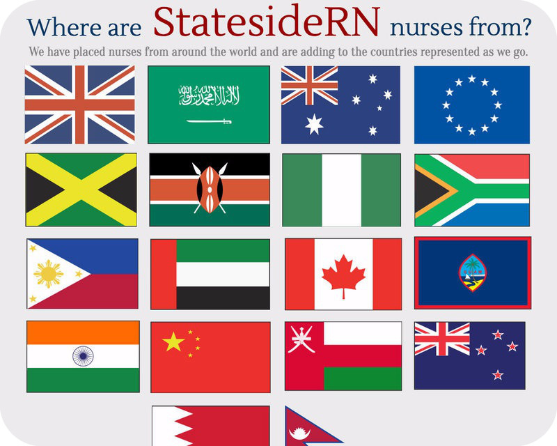 StatesideRN Has Represented Nurses From Around the World